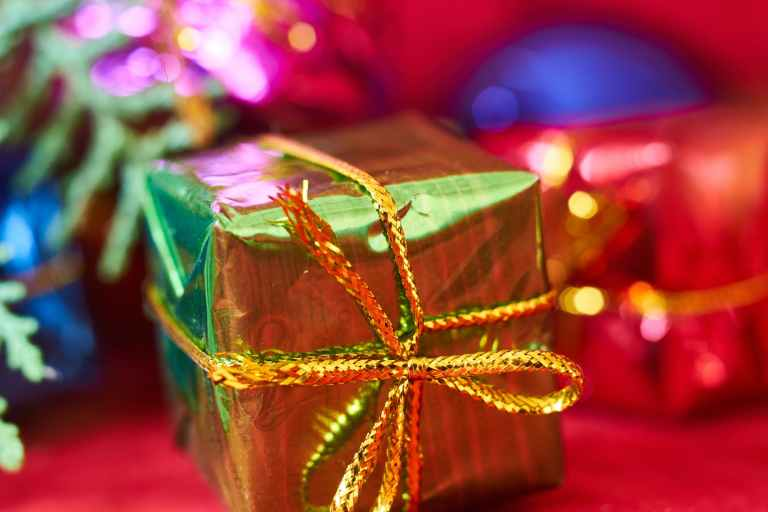 closeup photography of gift box
