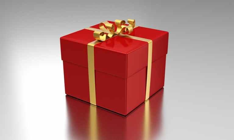 box celebration gift package