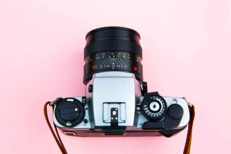 gray and black dslr camera