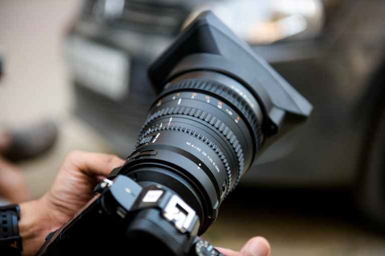 close up of person using camera