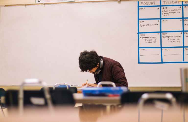 photo of student inside classroom