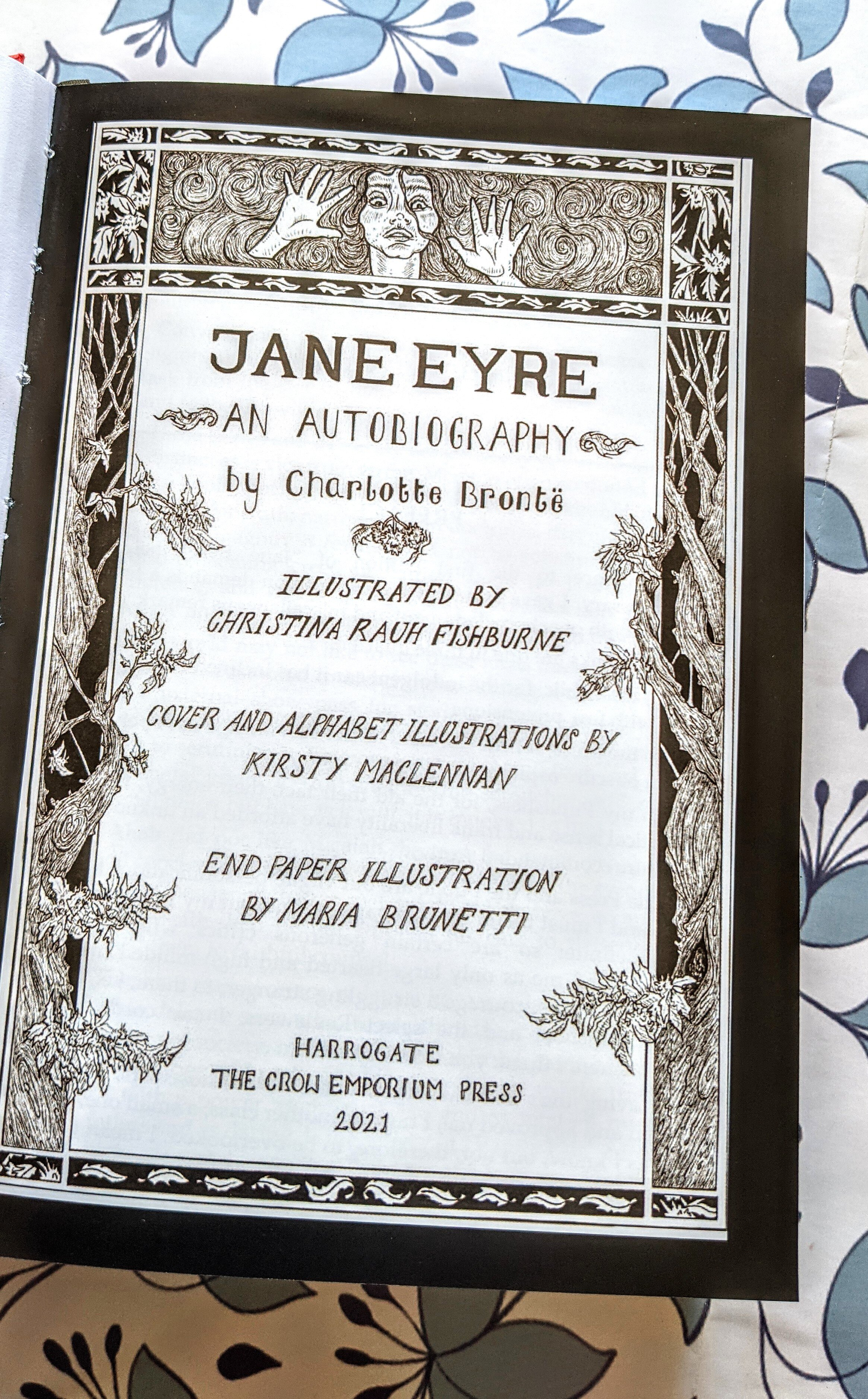 Jane Eyre by Charlotte Bronte - Illustrated. The Crow Emporium Press  Edition — The Crow Emporium